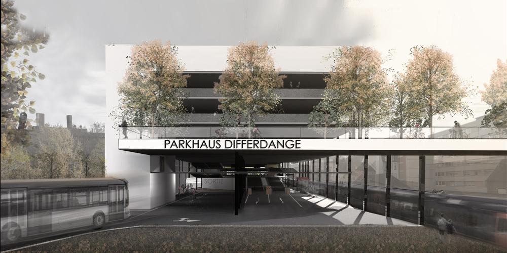 056 parkhaus differdange cfarchitectes public architecte for Architecte luxembourg