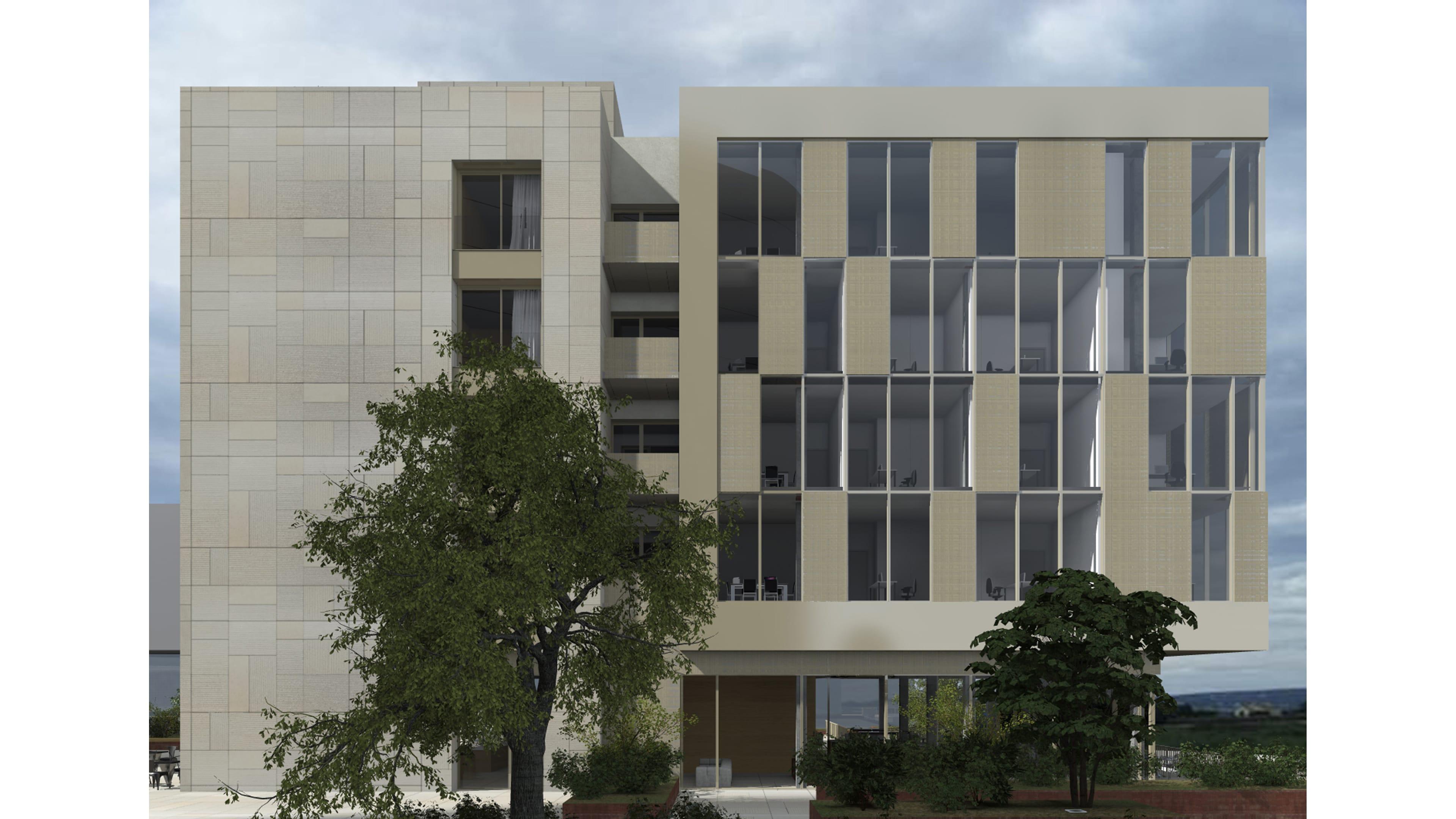 083 belval bureaux appartements square mile cfarchitectes for Architecte luxembourg