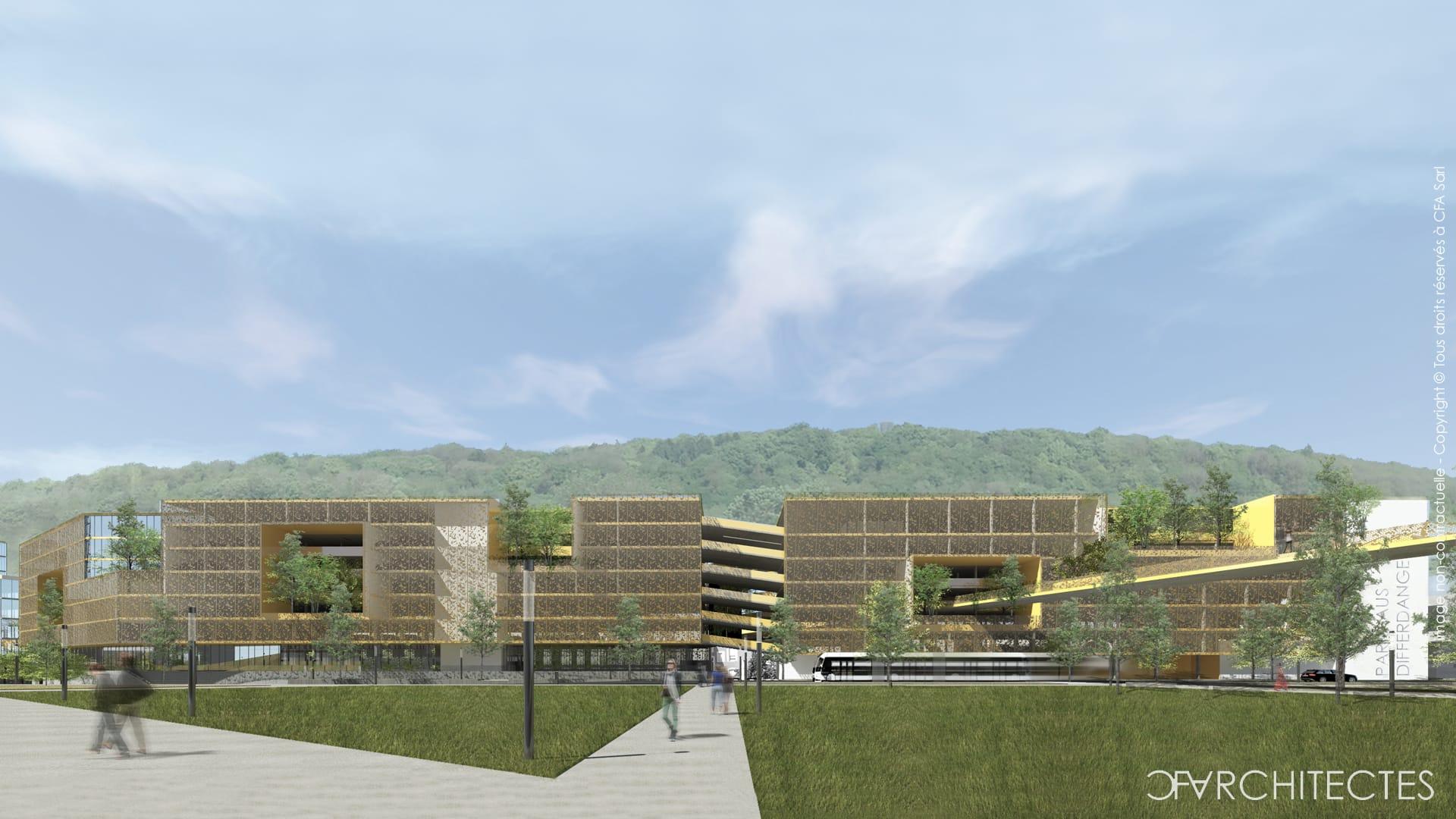 056 dif differdange parkhaus 2020 cfarchitectes for Architecte luxembourg