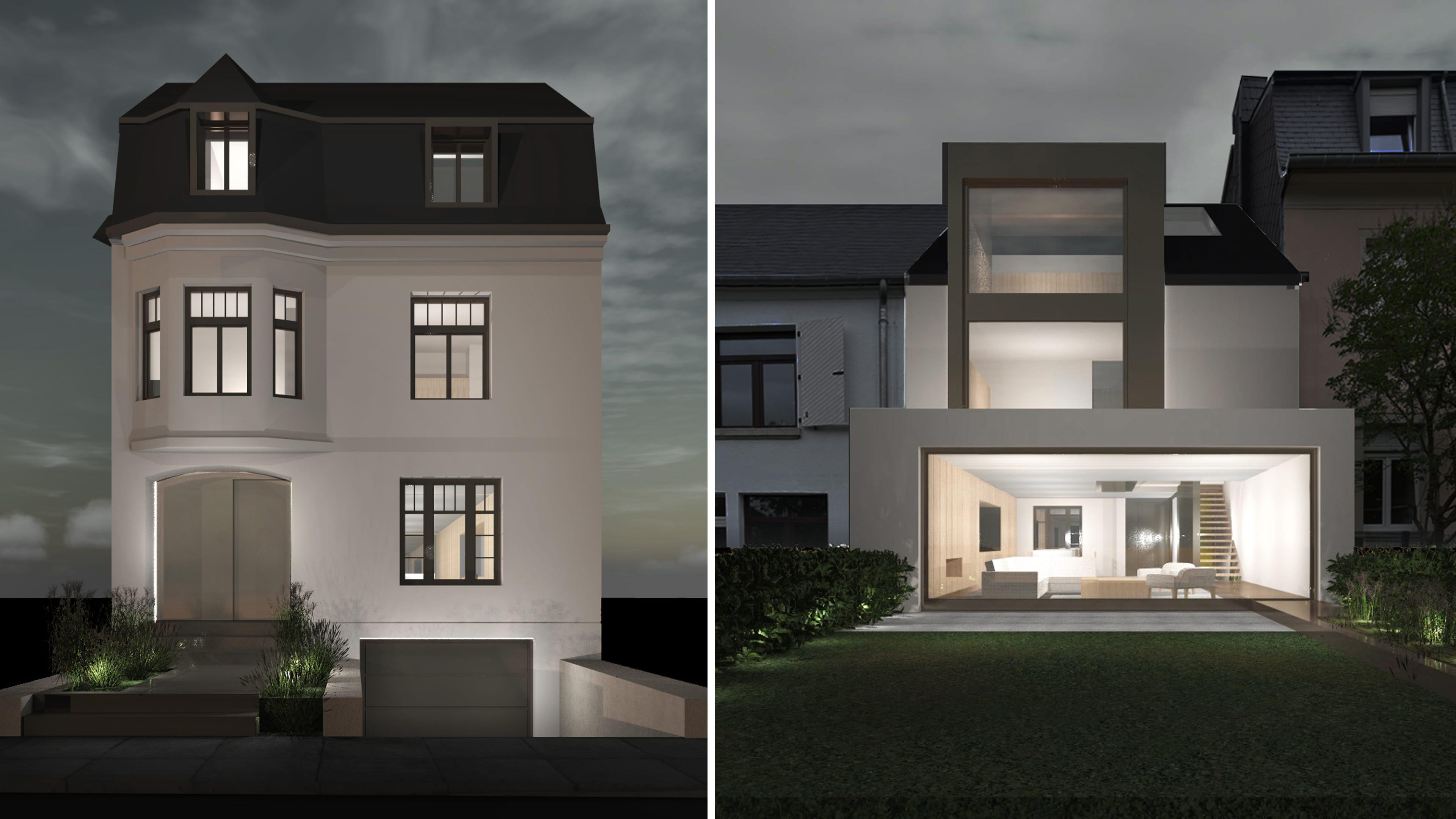 099 cfarchitectes maison extension interieur luxembourg for Architecte luxembourg